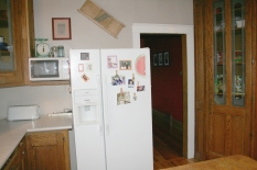 Before: Refrigerator right by main entry from dining room